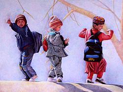 跳舞的新疆小孩