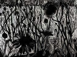 《小花》黑白木刻