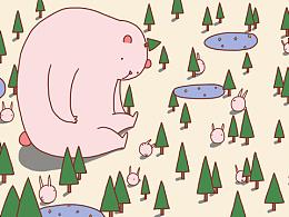 大粉熊的小森林