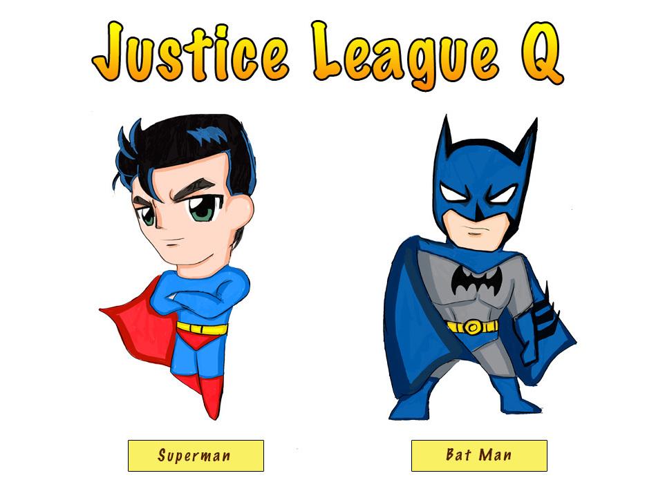 正义联盟q版手绘