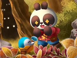 巴布熊猫二十四节气宣传图(2)