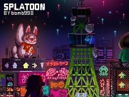 splatoon-广场夜景