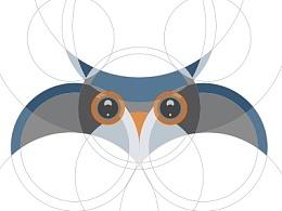 【新手教程】如何创建一个猫头鹰字符使用Adobe Illustrator的圆形网格