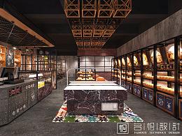 湖南长沙-仓前小镇面包店设计