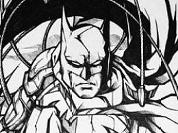 插画蝙蝠侠【附过程】