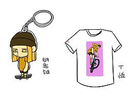 毕设动画周边钥匙链T恤瓷杯