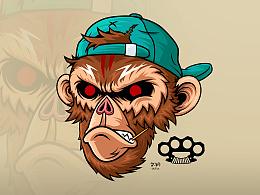 潮流插画 - Monkey