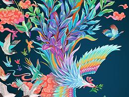 鸟王茶插画