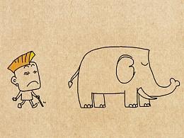 小明漫画——摸象