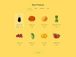 UI设计 网页设计 界面设计 蔬菜水果界面 蔬菜水果商店 销售蔬菜水果网页