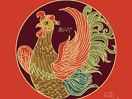 鸡年大吉 积极向上 鸡年画鸡
