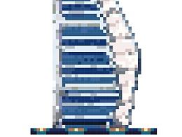 建筑像素化 迪拜帆船酒店