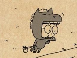 小明漫画——小马过河