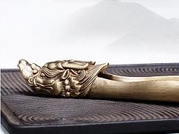 沐焱堂 纯手工伏龙铜茶则 纯铜 创意高档茶荷茶勺