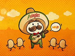参加品客薯片的一个插画和视频比赛做的作品