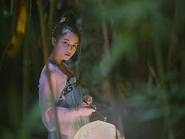 夜阑竹影静