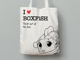 为盒子鱼公司制作的环保帆布袋