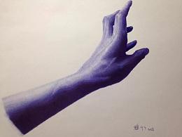 圆珠笔画---《手》