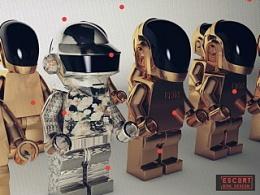 Daft Punk C4D渲染