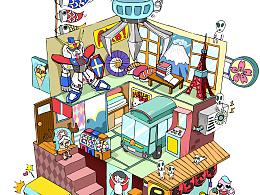 娃娃机里的小世界