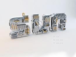 C4D金属字临摹