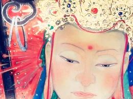 岩彩·鬼节的专属壁纸《地藏王菩萨》