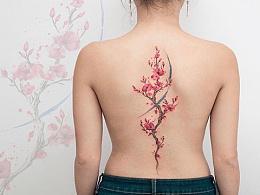 #宝鸡纹身[超话]#水彩泼墨风格彩色纹身赏析.彩色的纹
