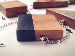 披肩式实木项链