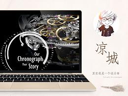 天猫京东详情页宝梭手表高端进口机芯机械表