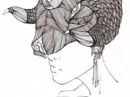JAMU时尚插画:发丝的艺术(3)
