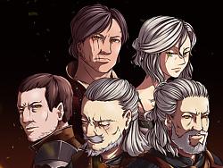 《巫师3 》角色插画设计(附绘制过程)以及周边  杰洛特看了会打人系列