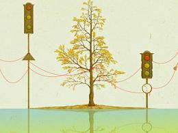 步骤图《镜子现实——银杏》封面