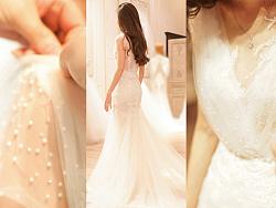 Julievin 鱼尾A型两穿婚纱礼服 by 望设计婚纱
