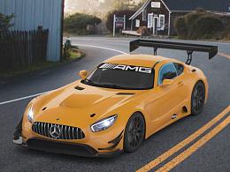 首次户外渲染 Mercedes_AMG_GT3