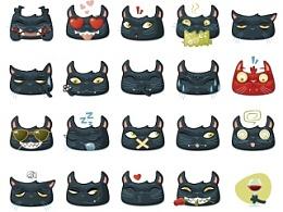 黑猫表情套