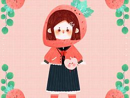 原创插画《甜甜水果味》系列二