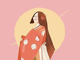 日式人物插画