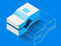 互联网+驾校 图标设计