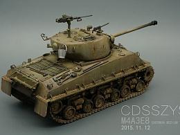 美军二战m4系类中型坦克 M4A3E8型