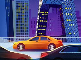 智能出行城市海报
