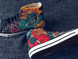 20180327。手繪鞋.