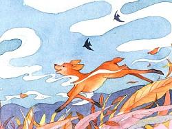 故事插图《会飞的小鹿》