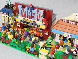 GS的MOC】LEGO游乐园一角 超英套圈圈+抓娃娃机+冰缴淋屋