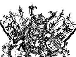 Kongfu黑怕线稿