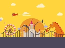 CDR 游乐园图标设计