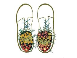 我的鞋长了花花草草