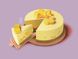 iPad procreate 蛋糕绘画