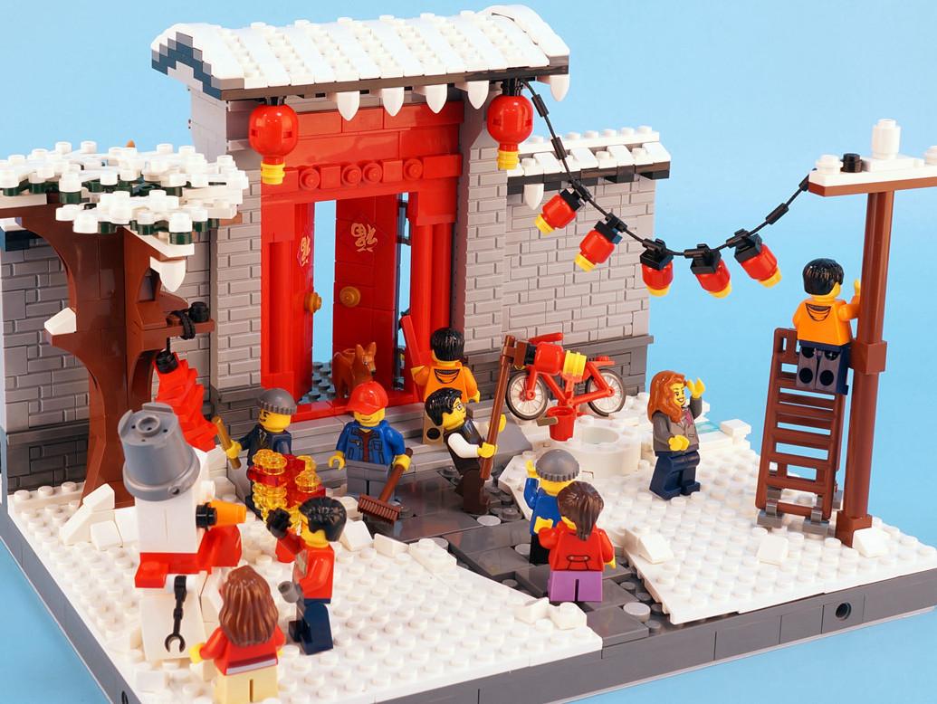 【gs的moc】中国风-追忆过年小场景图片