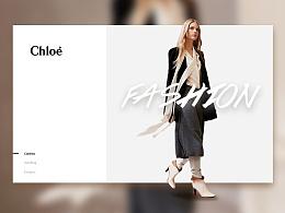 蔻依Chloé页面设计