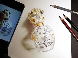 彩铅插画—香水瓶
